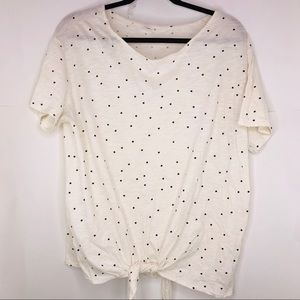 Old Navy | Polkadot Tie Front T-shirt